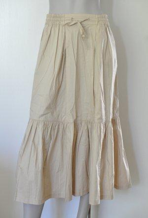 Stefanel Rock Volantrock Baumwolle Elasthan beige ca. S/M 36/38 WIE NEU