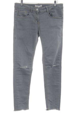 Stefanel Jeans cigarette gris style décontracté
