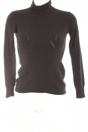 Stefanel Turtleneck Sweater black casual look