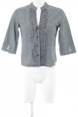 Stefanel Ruffled Blouse grey business style