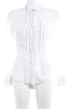 Stefanel Rüschen-Bluse weiß