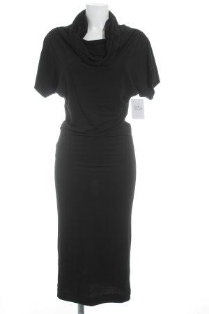 Stefanel Vestido de tubo negro elegante