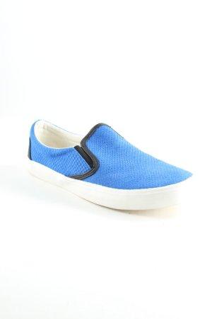 Stefanel Schlüpfschuhe schwarz-blau extravaganter Stil
