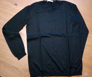 Stefanel schwarzer Pullover aus Schurwolle, Gr. S