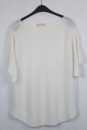 Stefanel Shirt Leinenshirt Gr. L weiß (18/5/325)