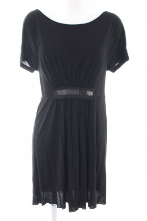 Stefanel Shirtkleid schwarz Business-Look