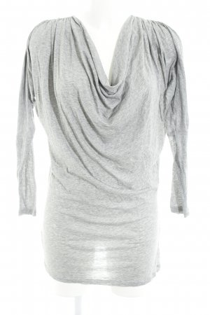 Stefanel Robe t-shirt gris clair moucheté style décontracté