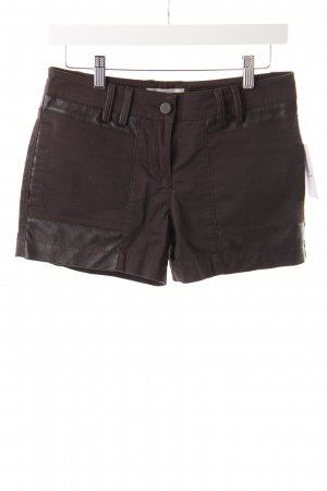 Stefanel Shorts Materialmix braun