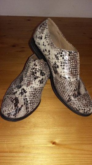 Stefanel Snake Print Loafer Slipper Gr.40