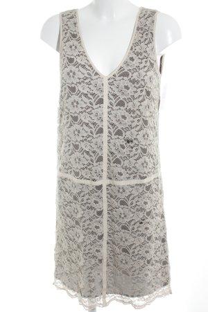 Stefanel Spitzenkleid braun-nude florales Muster Romantik-Look