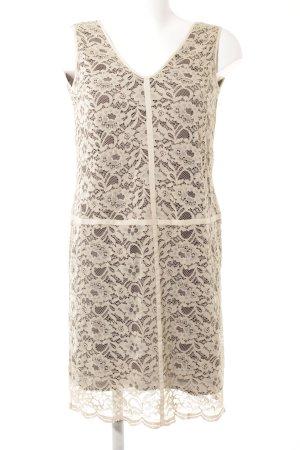 Stefanel Lace Dress cream-dark brown elegant