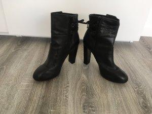 Stefanel Zipper Booties black