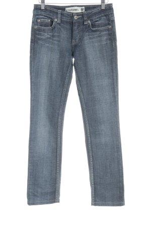 Stefanel Straight-Leg Jeans graublau-blassblau Washed-Optik