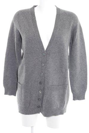 Stefanel Strick Cardigan grau schlichter Stil