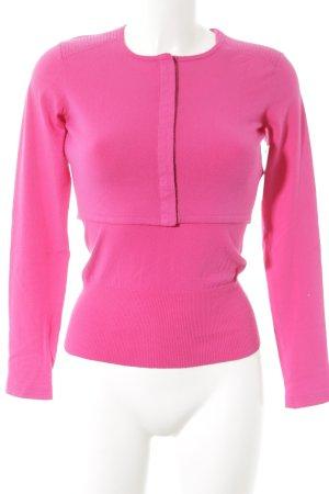 Stefanel Twin set in maglia rosa elegante