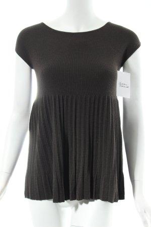 Stefanel Strickbekleidung dunkelbraun klassischer Stil