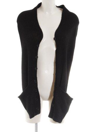 Stefanel Boléro en tricot noir style décontracté