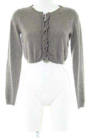 Stefanel Boléro en tricot gris clair style décontracté