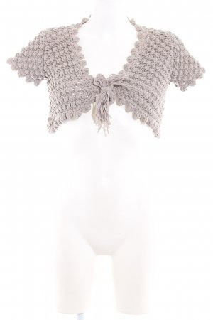 Stefanel Knitted Bolero light grey casual look