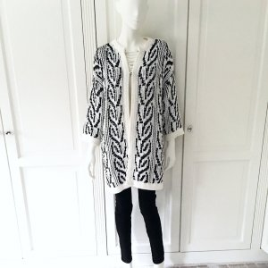 Stefanel Coarse Knitted Jacket white-black cotton