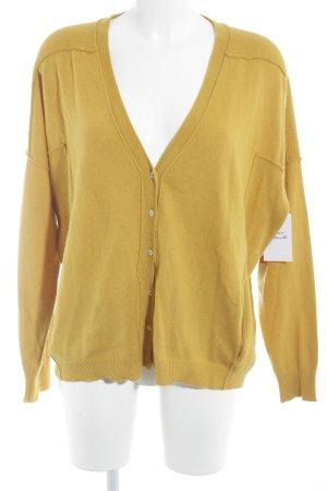 Stefanel Giacca in maglia giallo-oro stile casual