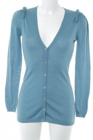 Stefanel Strickjacke kadettblau Casual-Look