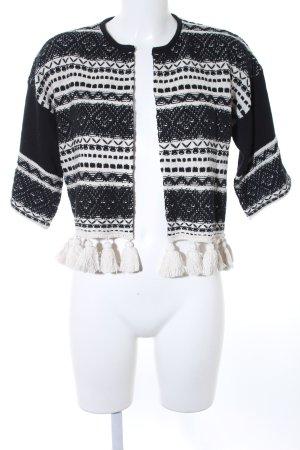 Stefanel Cardigan black-white casual look