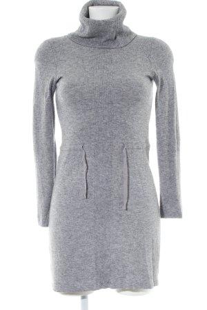 Stefanel Gebreide jurk lichtgrijs gestippeld casual uitstraling