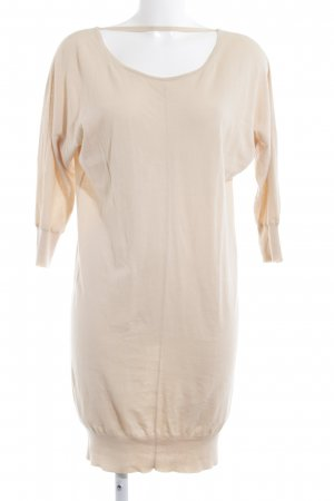 Stefanel Strickkleid creme Casual-Look