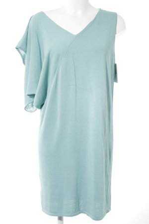 Stefanel Robe en maille tricotées turquoise style extravagant