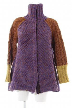 Stefanel Knitted Coat multicolored extravagant style