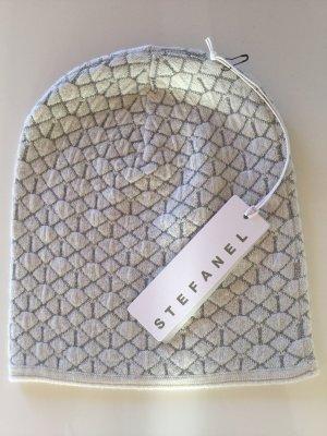 Stefanel Chapeau en tricot blanc cassé-argenté
