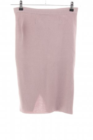 Stefanel Gonna lavorata a maglia rosa stile casual