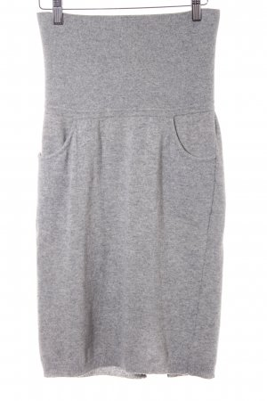 Stefanel Jupe tricotée gris moucheté molletonné