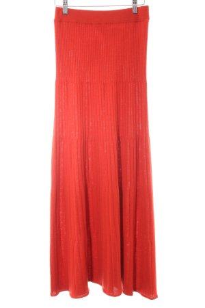Stefanel Falda de punto rojo estilo extravagante