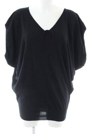Stefanel Gebreid shirt zwart casual uitstraling