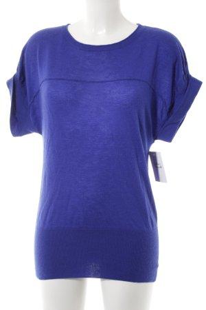 Stefanel Camisa tejida azul look casual