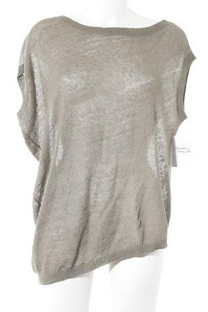 Stefanel Camisa tejida marrón grisáceo look casual