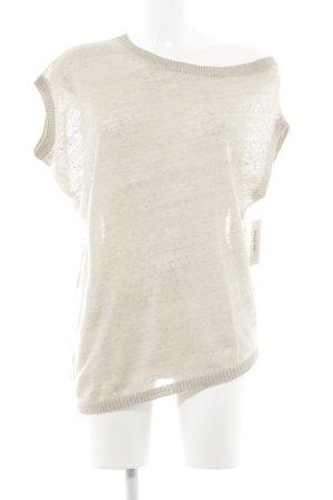 Stefanel Camisa tejida beige claro look casual