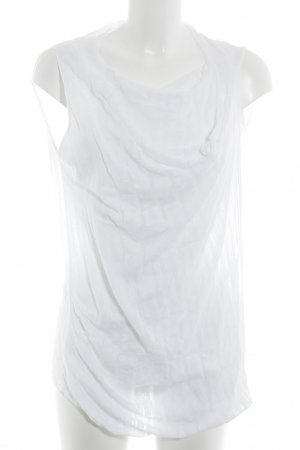 Stefanel Camisa tejida blanco puro Patrón de tejido elegante