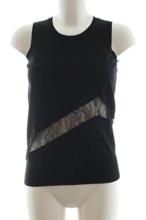 Stefanel Gebreide top zwart elegant