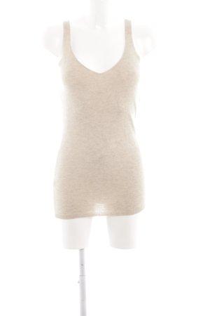 Stefanel Top lavorato a maglia beige chiaro stile casual