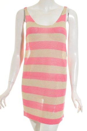 Stefanel Stricktop pink-beige Streifenmuster Casual-Look