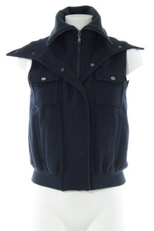Stefanel Gilet tricoté bleu style décontracté