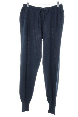 Stefanel Pantalon de jogging bleu foncé style décontracté