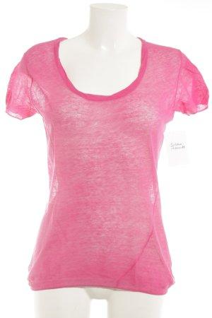 Stefanel T-Shirt pink schlichter Stil