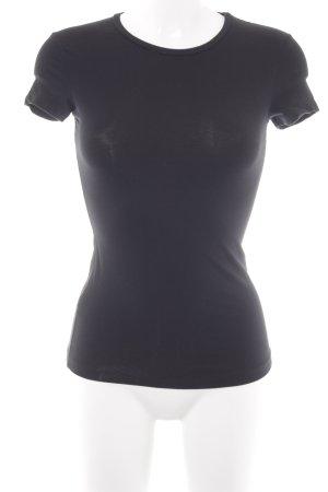Stefanel T-Shirt schwarz Casual-Look