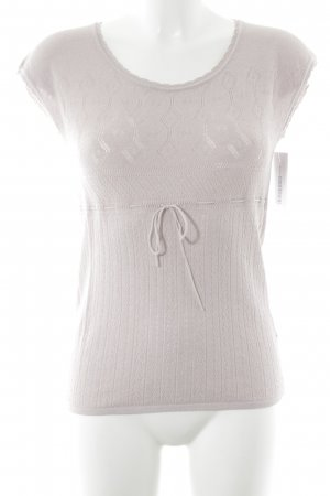 Stefanel T-Shirt taupe Lochstrickmuster Casual-Look