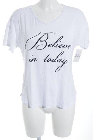Stefanel T-Shirt weiß Casual-Look