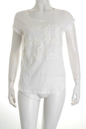 Stefanel T-Shirt weiß klassischer Stil
